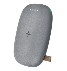 TYLT TYLT Pebble Wireless Charging Pad and Power Bank 12W 4,000 mAh - Gray Speckle