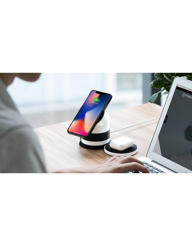Pitaka Pitaka MagDock Pro Twist Wirless Charger Inbuilt Battery 7800mAh for iPhone & Apple Watch