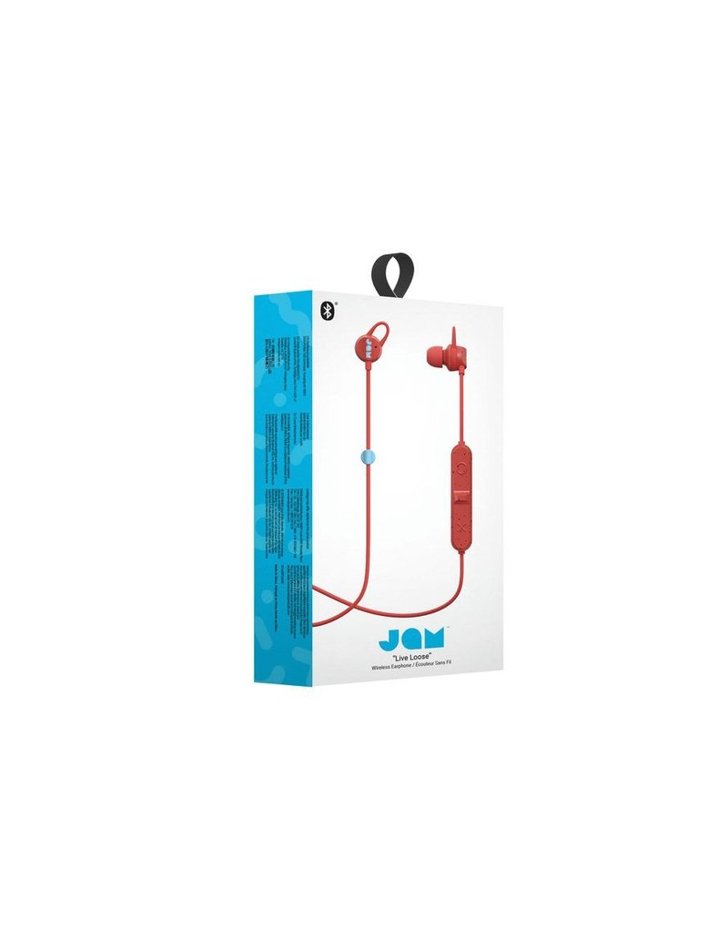 Jam Jam HMDX Audio Live Loose Sweat Resistant In Ear Bluetooth Headphones - Red and Blue