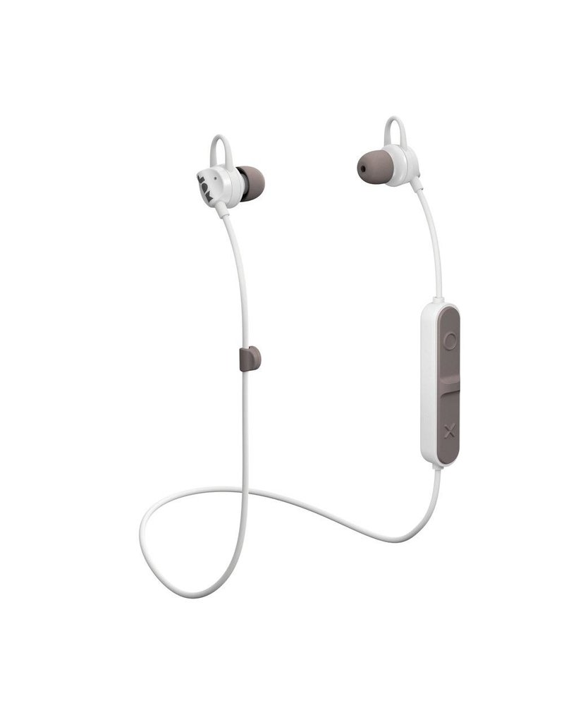 Jam Jam HMDX Audio Live Loose Sweat Resistant In Ear Bluetooth Headphones - Gray and White