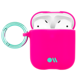 Case Mate Case Mate Hook Ups Neon Apple Airpod 1/2 Case and Neck Strap - Fuchsia