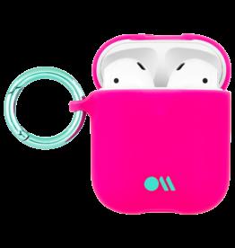 Case Mate Case Mate Hook Ups Neon Apple Airpod Case and Neck Strap - Fuchsia
