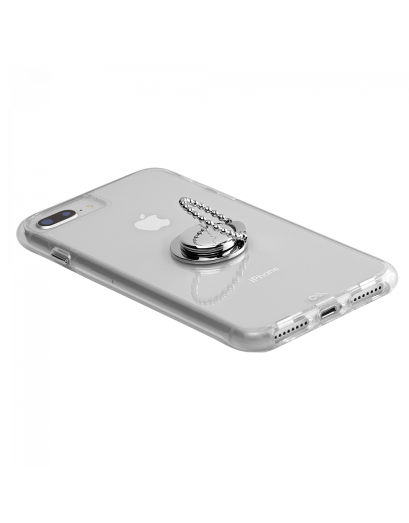 Case Mate Case Mate Ring Stand and Grip - Dotted Silver