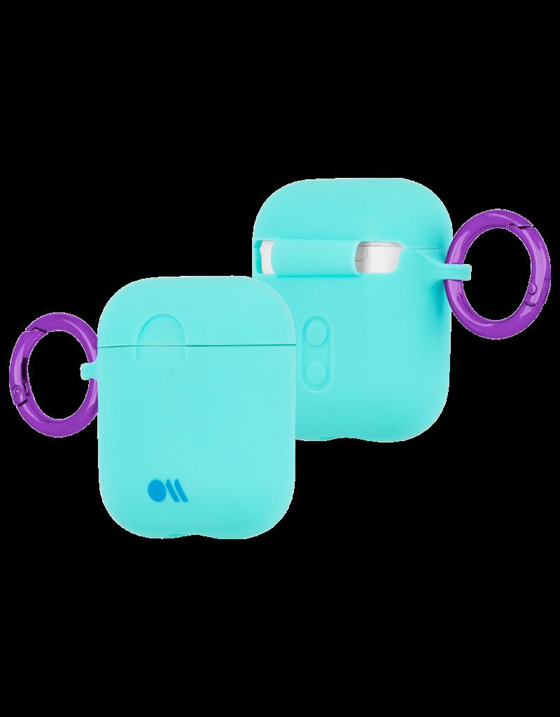 Case Mate Case Mate Hook Ups Neon Apple Airpod 1/2 Case and Neck Strap - Aqua