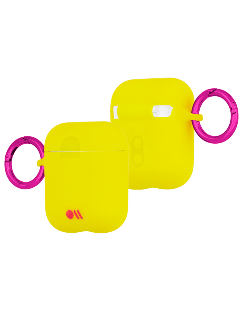 Case Mate Case Mate Hook Ups Neon Apple Airpod Case and Neck Strap - Lemon Lime