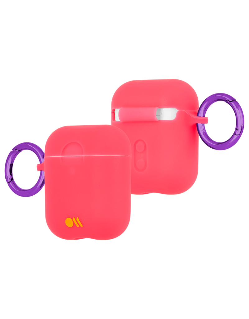 Case Mate Case Mate Hook Ups Neon Apple Airpod Case and Neck Strap - Living Coral