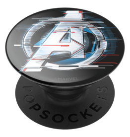 PopSockets PopSockets PopGrips Licensed Swappable Device Stand and Grip - Shattered Avengers Logo Gloss