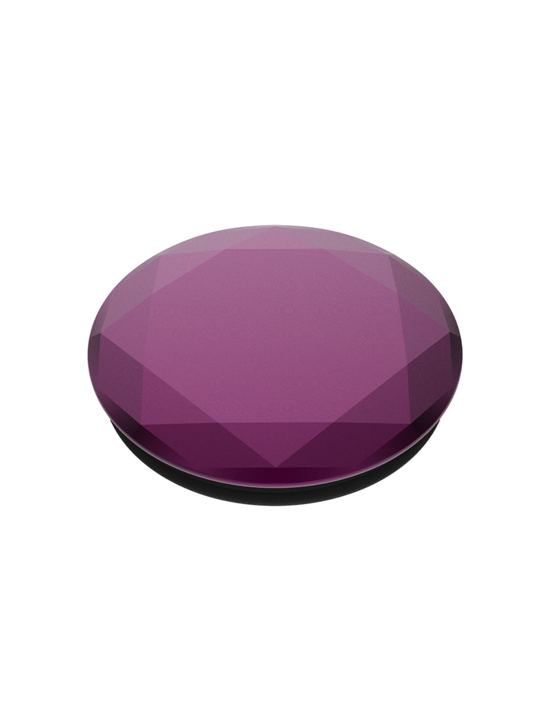 PopSockets PopSockets PopGrips Swappable Metallic Diamond Premium Device Stand and Grip - Mystic Violet