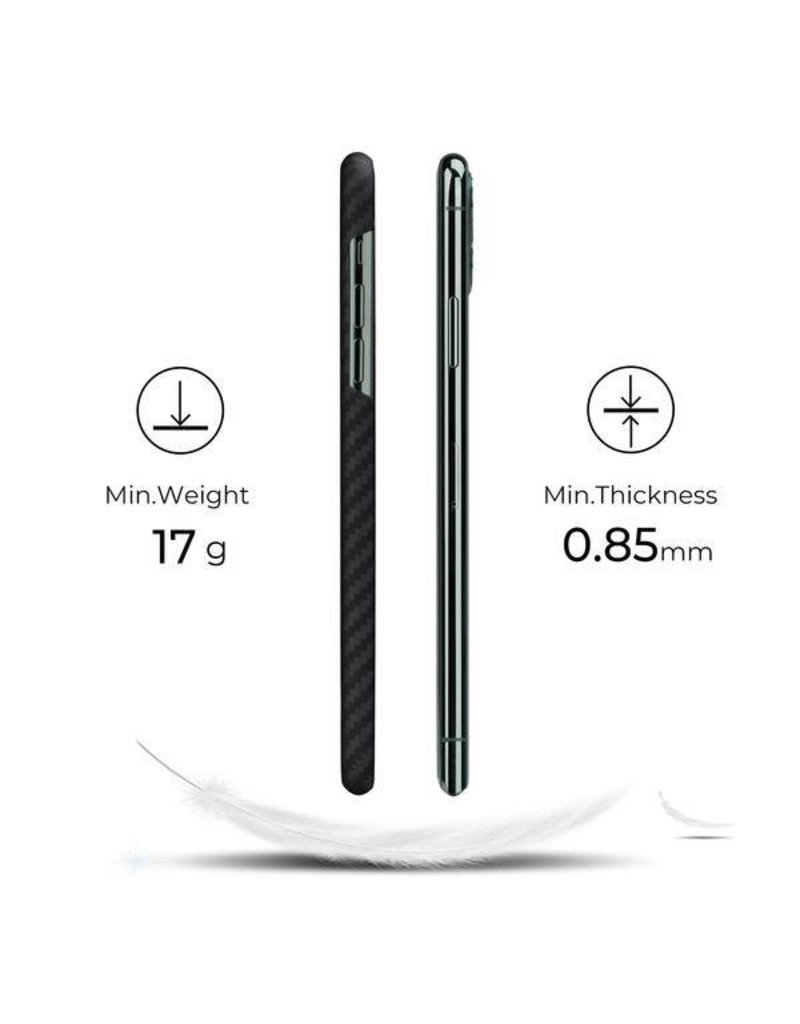 Pitaka Pitaka Aramid MagEZ Case for iPhone 11 Pro - Black/Grey Twill