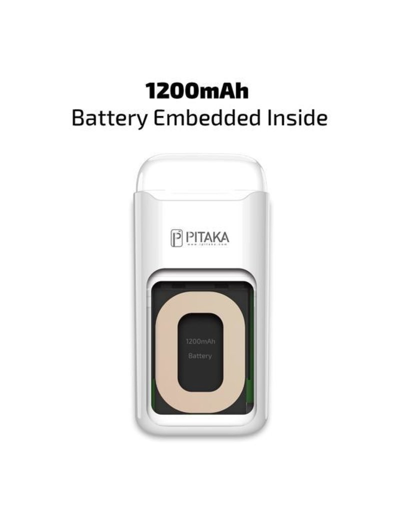 Pitaka Pitaka AirPodPal Ceramic Case for Airpods inbuilt with Power Bank 1200mAh - Essential White