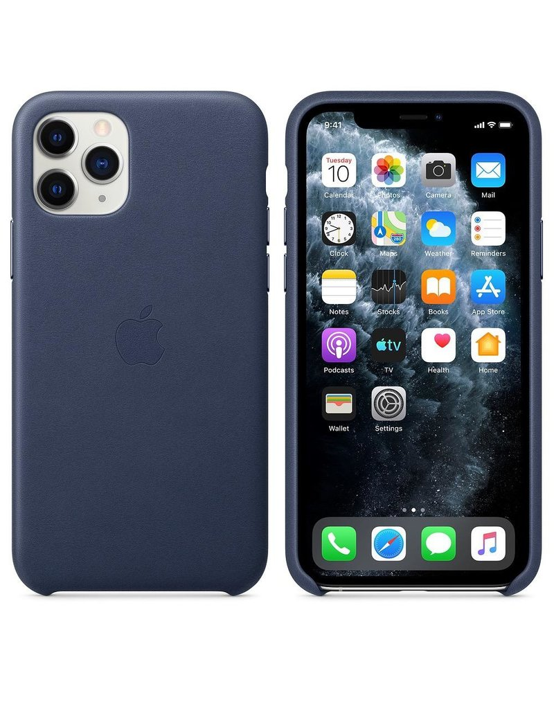 Apple Apple iPhone 11 Pro Leather Case - Midnight Blue