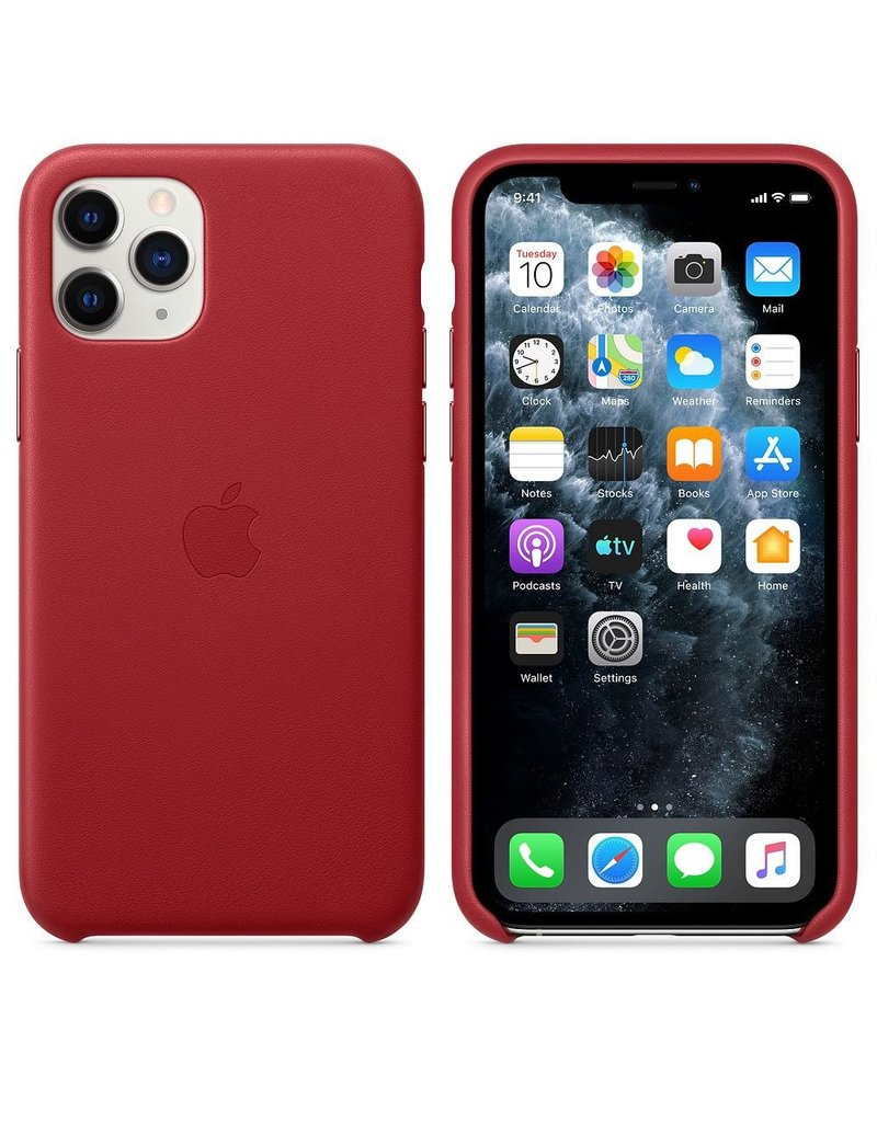 Apple Apple iPhone 11 Pro Leather Case - Red