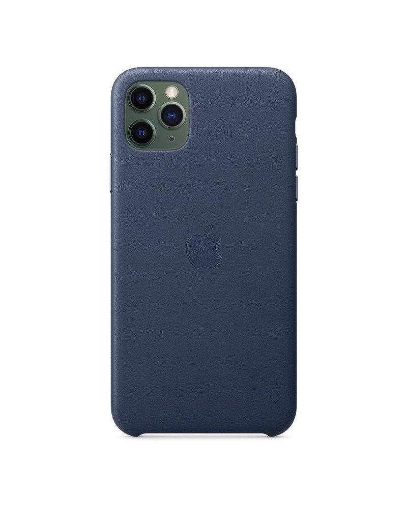 Apple Apple iPhone 11 Pro Max Leather Case - Midnight Blue
