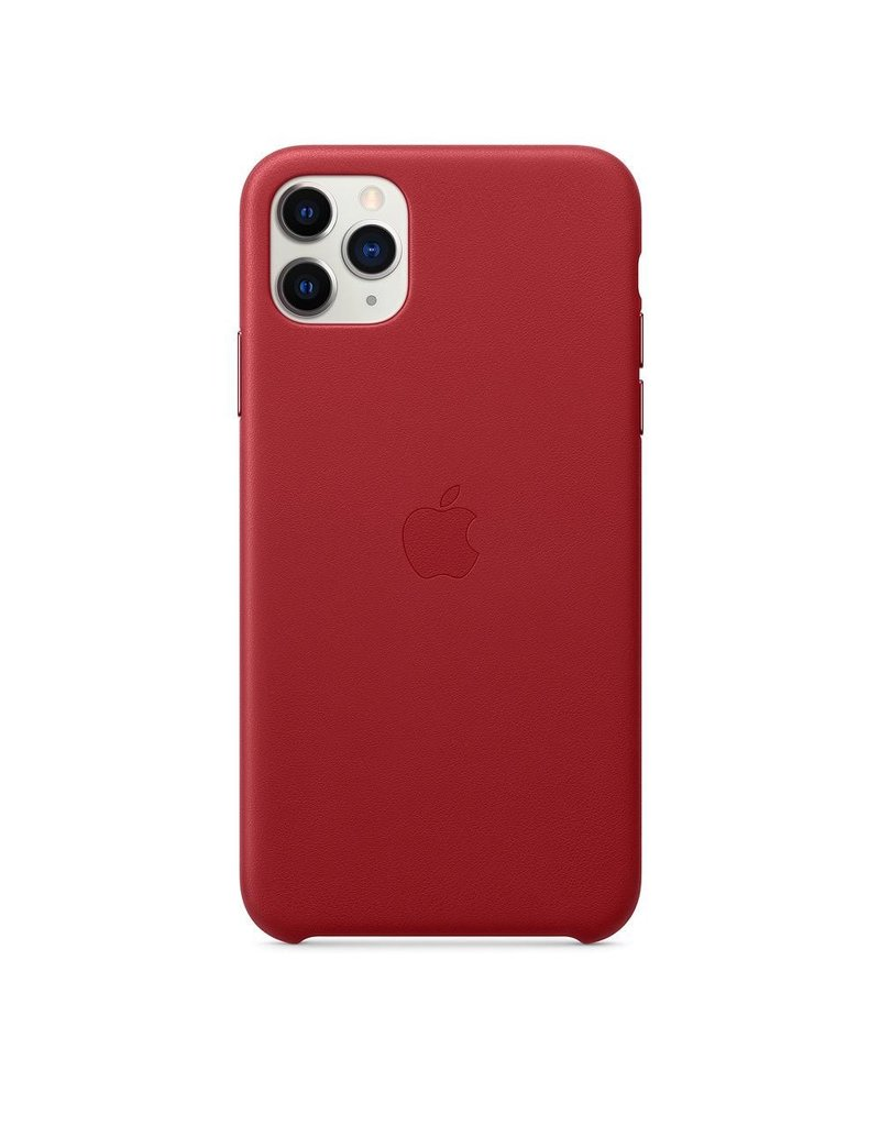 Apple Apple iPhone 11 Pro Max Leather Case - Red