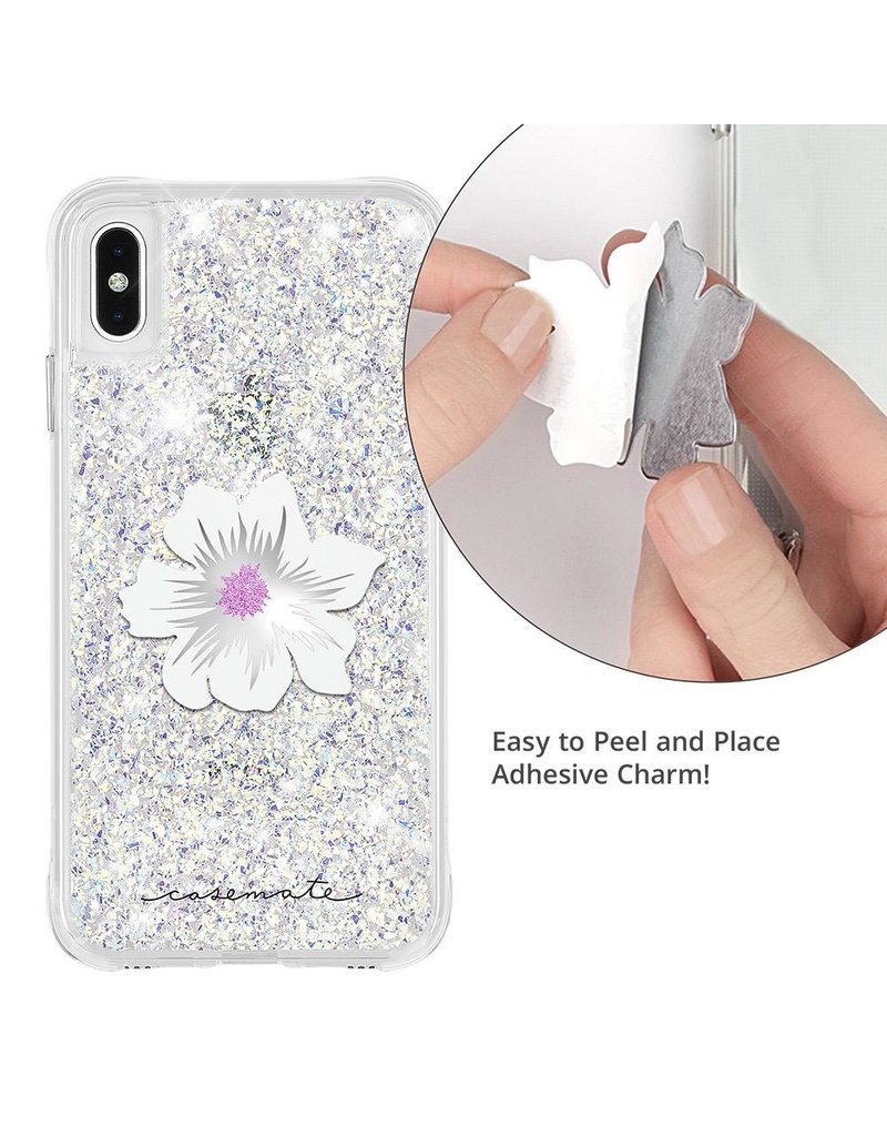 Case Mate Case Mate Car Charms Magnetic Vent Mount Kit - White Silver Flower