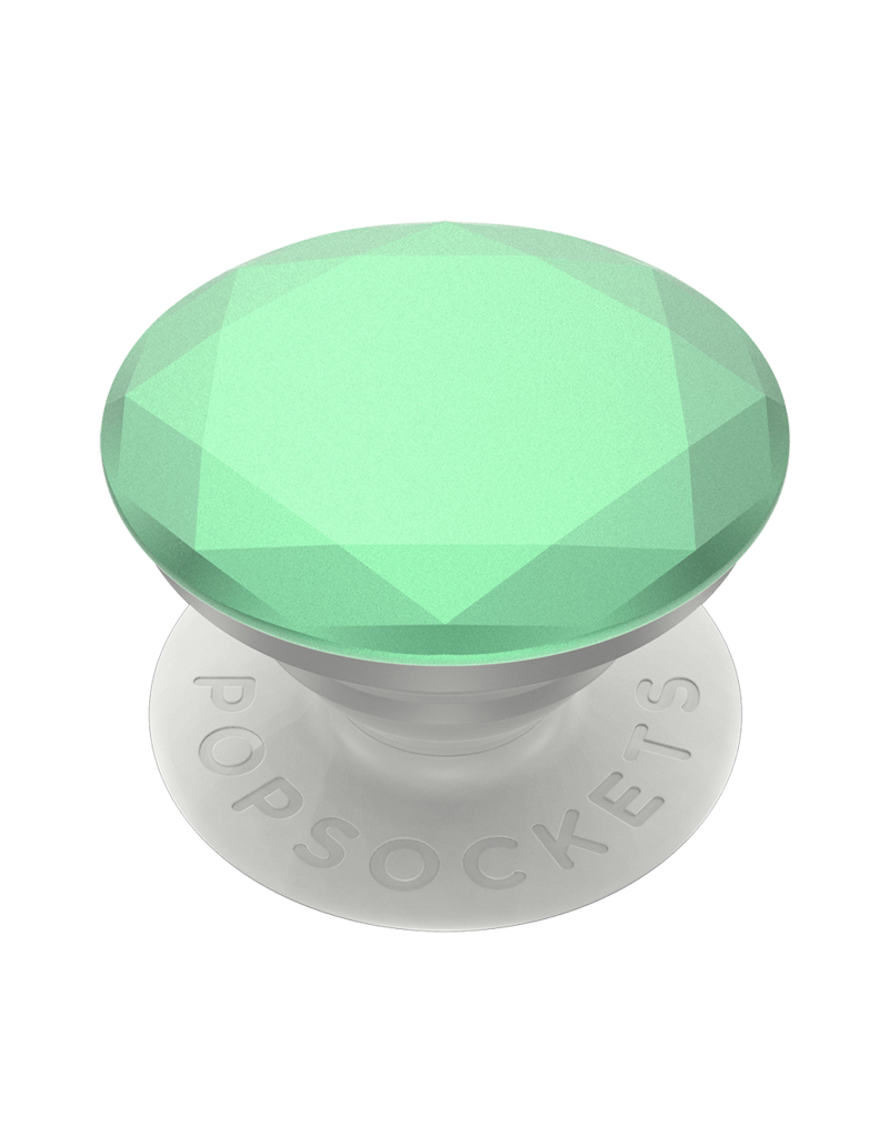 PopSockets PopSockets PopGrips Premium Swappable Device Stand and Grip - Metallic Diamond Ultra Mint