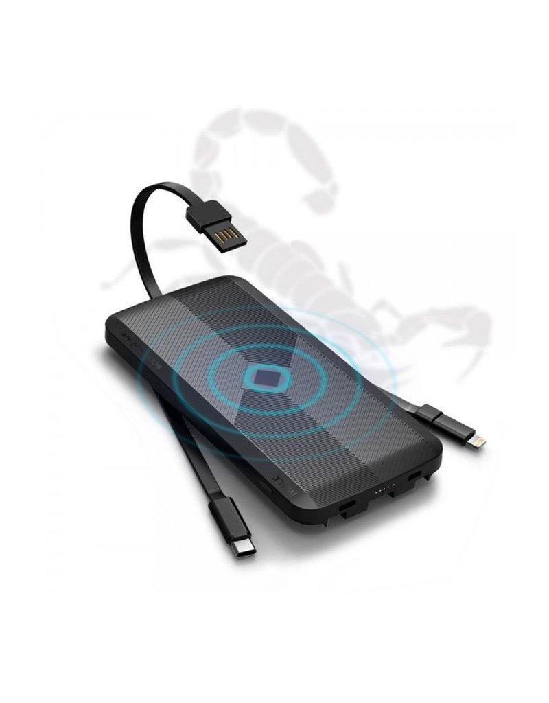 iWalk iWalk Scorpion Air Wireless Charging Pad 10W and Power Bank 8,000 mAh - Black