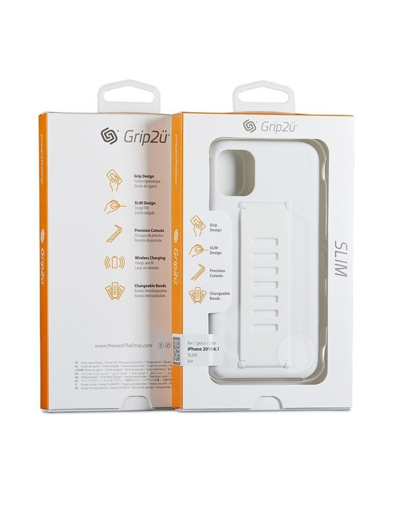 Grip2u Grip2u Slim Multiple Hand Grip Case for iPhone 11 - Ice
