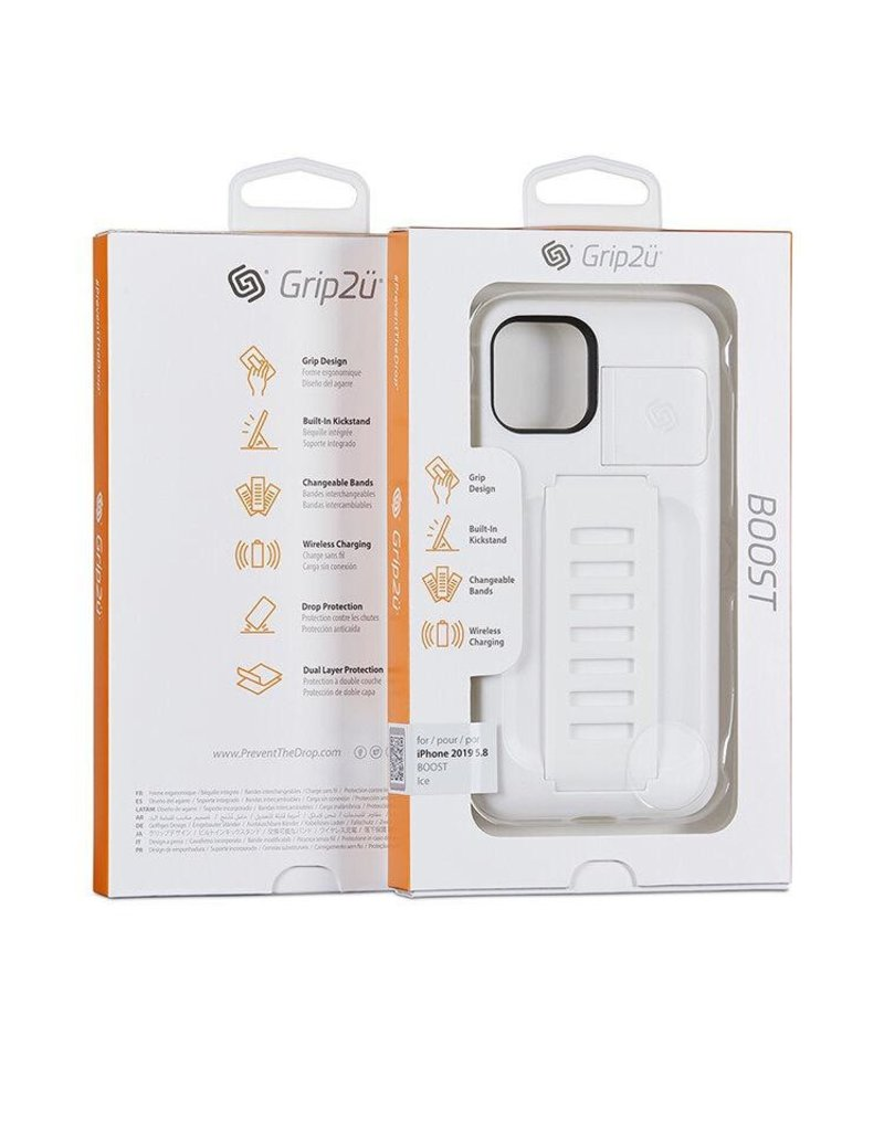 Grip2u Grip2u Boost Hand Grip with Kickstand Case for iPhone 11 Pro - Ice