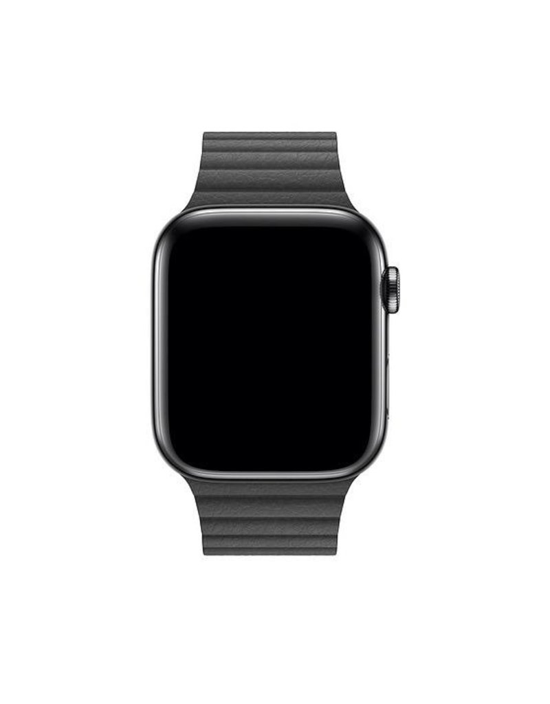 Apple Apple Watch Leather Loop Band Medium 42/44mm - Black