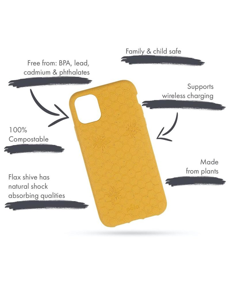 Pela Pela Eco Friendly Case for Apple iPhone 11 - Honey Bee Edition
