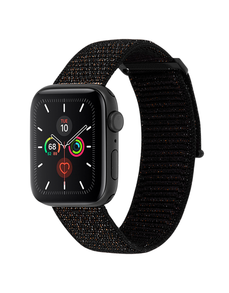 Case Mate Case Mate Nylon Watchband for Apple Watch 42mm / 44mm - Mixed Metallic Black