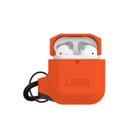 UAG Urban Armor Gear (UAG) Silicone Case for Apple AirPods 1/2 - Orange and Gray