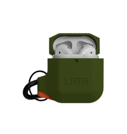 UAG Urban Armor Gear (UAG) Silicone Case for Apple AirPods 1/2 - Olive Drab/Orange