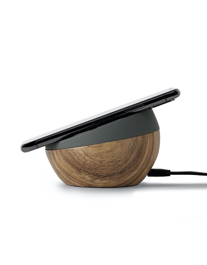 TYLT TYLT Twisty 360 Wireless Charging Pad and Stand 10W - Dirt and Wood