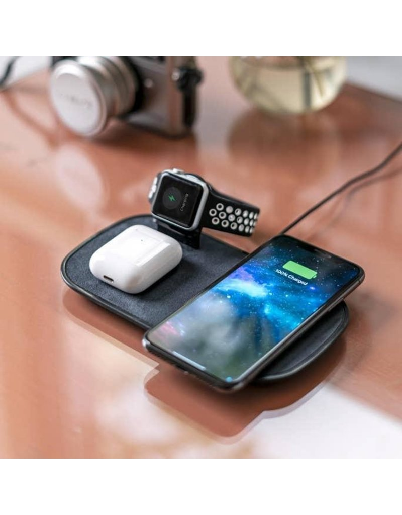 Mophie Mophie 3 in 1 Wireless Charging Pad with Apple Watch Dock 7.5W - Black
