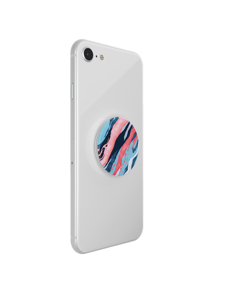 PopSockets PopSockets PopGrips Abstract Swappable Device Stand and Grip - Saturn Flow