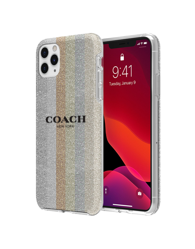 COACH Coach Protective Case for Apple iPhone 11 Pro Max - Glitter Americana