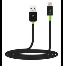 Goui Goui Classic Lightning to USB Cable - Black/Green