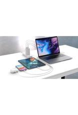 Hyper HYPER ++ Juice GaN 100W USB Type-C & USB Type-A Charger - White