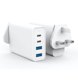 Hyper HYPER ++ Juice GaN 100W USB Type-C & USB Type-A Charger - White