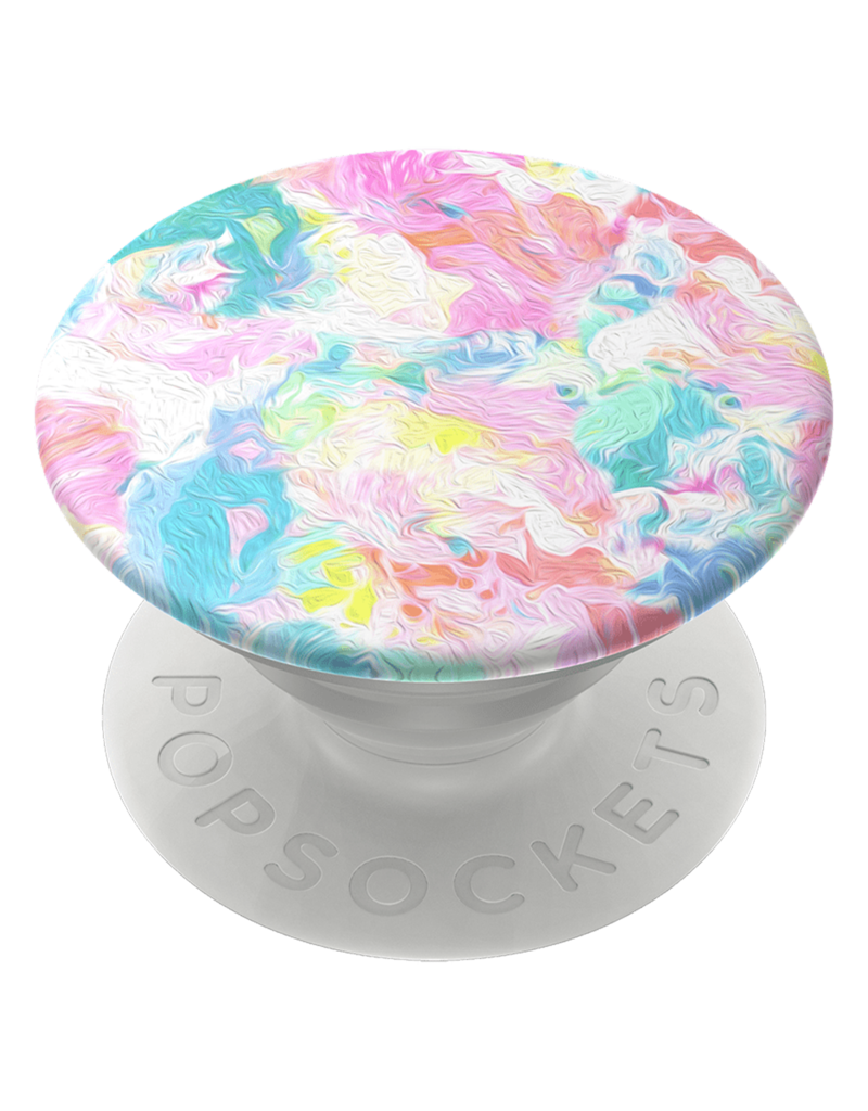 PopSockets PopSockets PopGrips Abstract Swappable Device Stand and Grip - Tie Dye Science