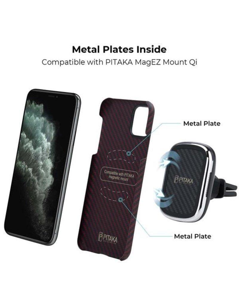 Pitaka Pitaka Aramid MagEz Case for iPhone 11 Pro - Black/Red Twill