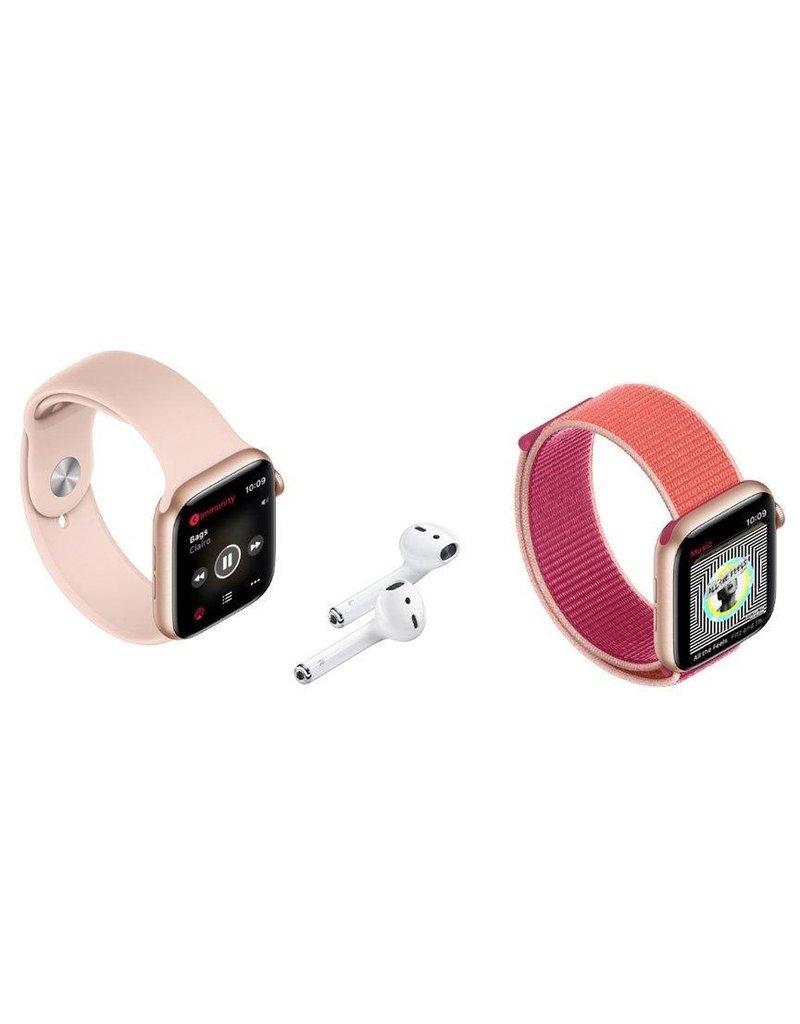 Apple Apple Watch Series 5, 44mm Aluminum Case, Black Sport Band (GPS) -  Space Gray