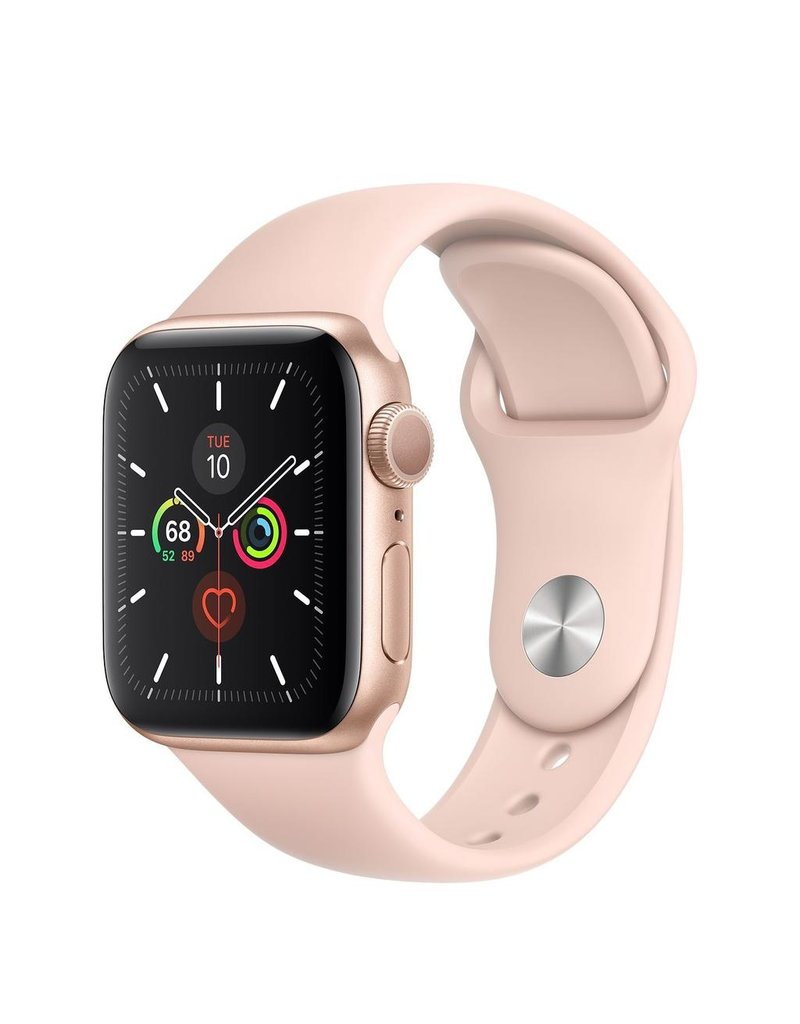 Apple Apple Watch Series 5, 40mm Aluminum Case, Pink Sand Sport Loop (GPS) - Gold
