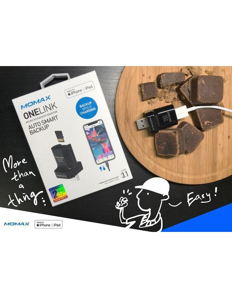 Momax Onelink Micro SD Auto Smart Backup Adapter