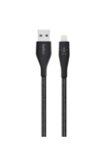 Belkin Belkin Duratek Plus Lightning to USB-A cable 10ft/3M - Black