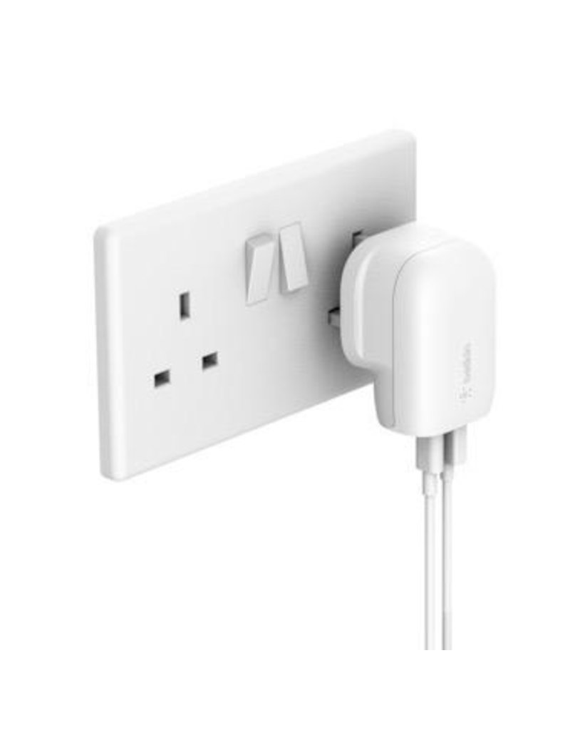 Belkin Belkin Boost Up Home Charger 2-Ports 30W (18W USB-C + 12W USB-A) - White