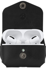 SwitchEasy SwitchEasy Wrap Leather Case for AirPods Pro with Ring - Black