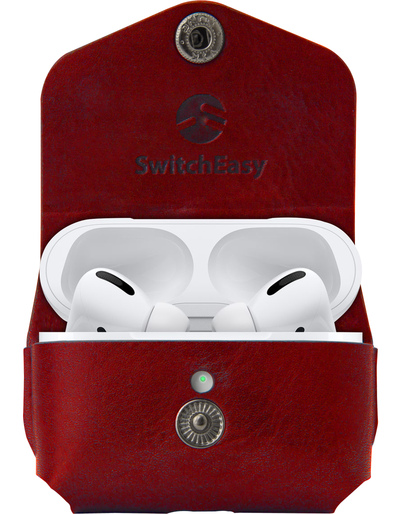 SwitchEasy SwitchEasy Wrap Leather Case for AirPods Pro with Ring - Red