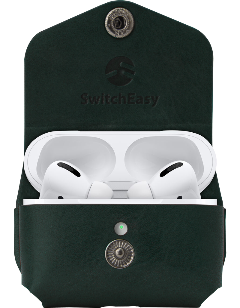 SwitchEasy SwitchEasy Wrap Leather Case for AirPods Pro with Ring - Army Green