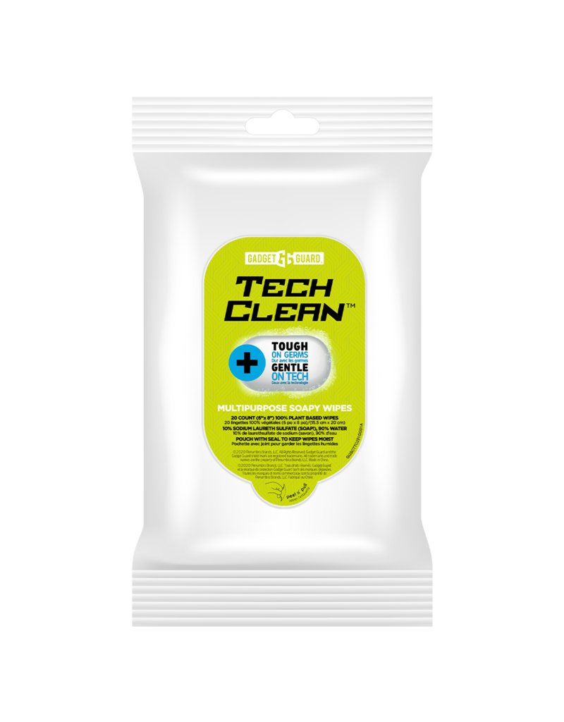 Gadget Guard Gadget Guard TechClean Soapy Wipes 20 Pack