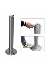 Hospital Stainless Steel Touchless Soap Foot Pedal Hand Sanitizer  Dispenser Floor Stand Anti Finger Print finish