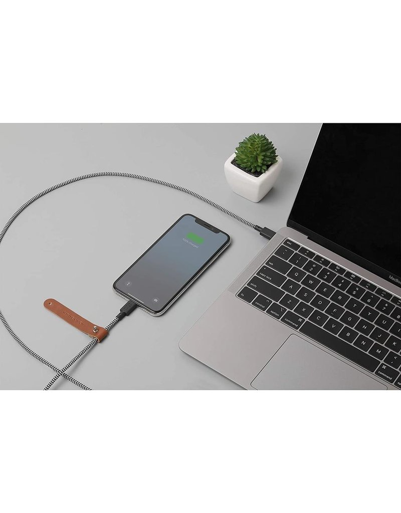 Native Union Native Union Belt Charging  Cable USB-C to lightening 3M - Zebra