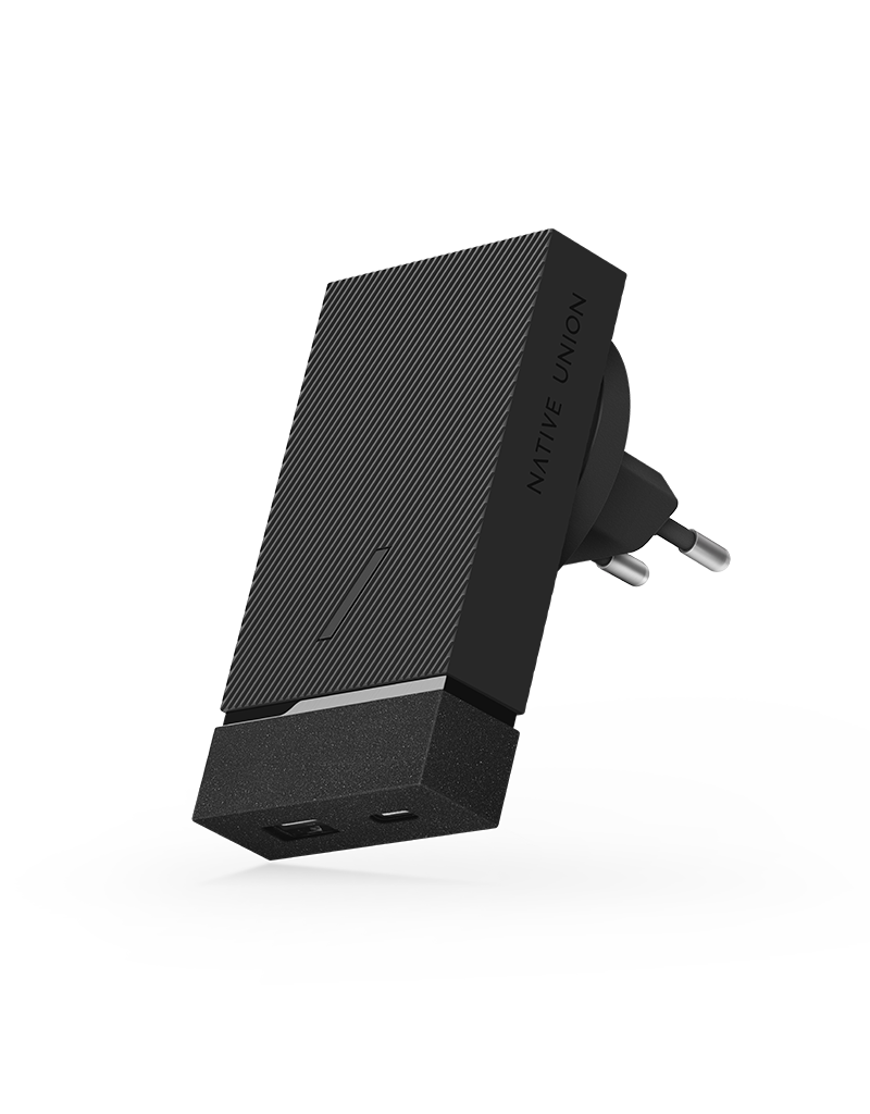 Native Union Native Union Smart Wall Charger PD with International Adapters 2Port (USB-A + USB-C ) 18W - Slate