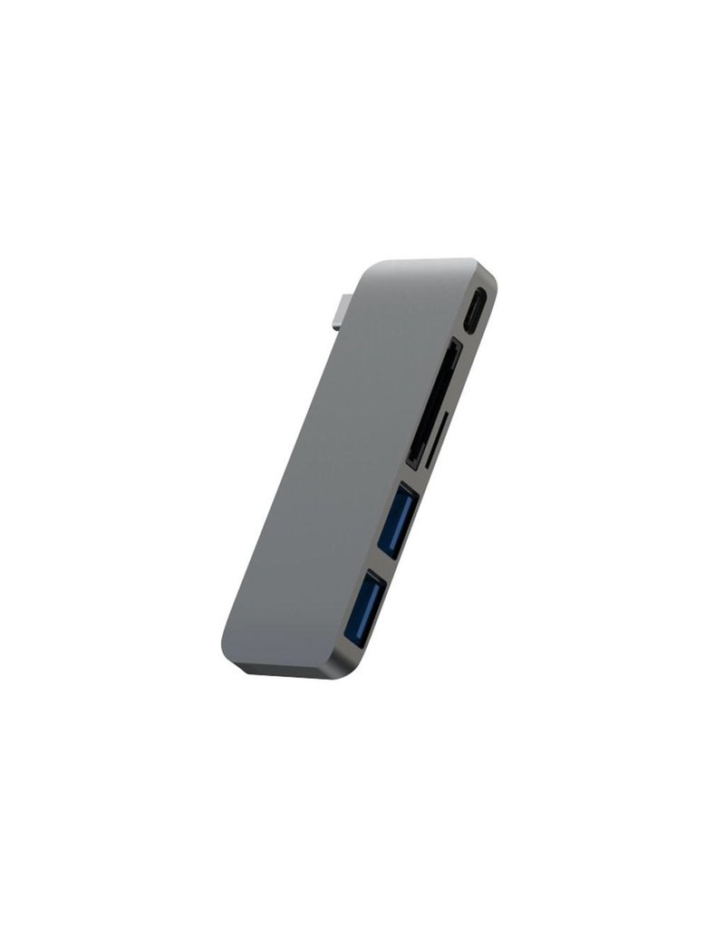 ADDiCTED Addicted Aluminum 5-in-1 Type-C Multi-Port Hub - Gray